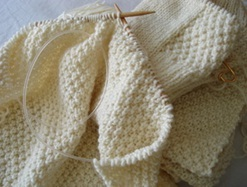 Knitting Double Moss Stitch Photo