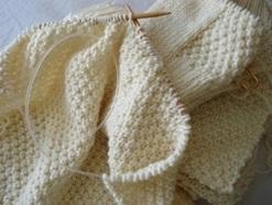Knitting Double Moss Stitch Photo