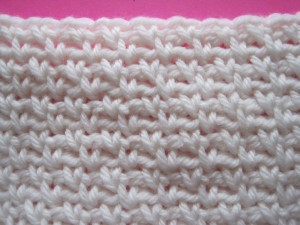 Single Moss Stitch Crochet Picture