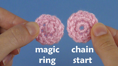 Crochet Magic Circle Tutorial : Magic Circle Crochet Stitch Piece n Purl
