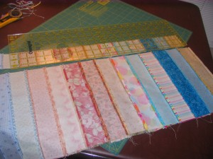 Bargello Quilt Making Instruction Picture