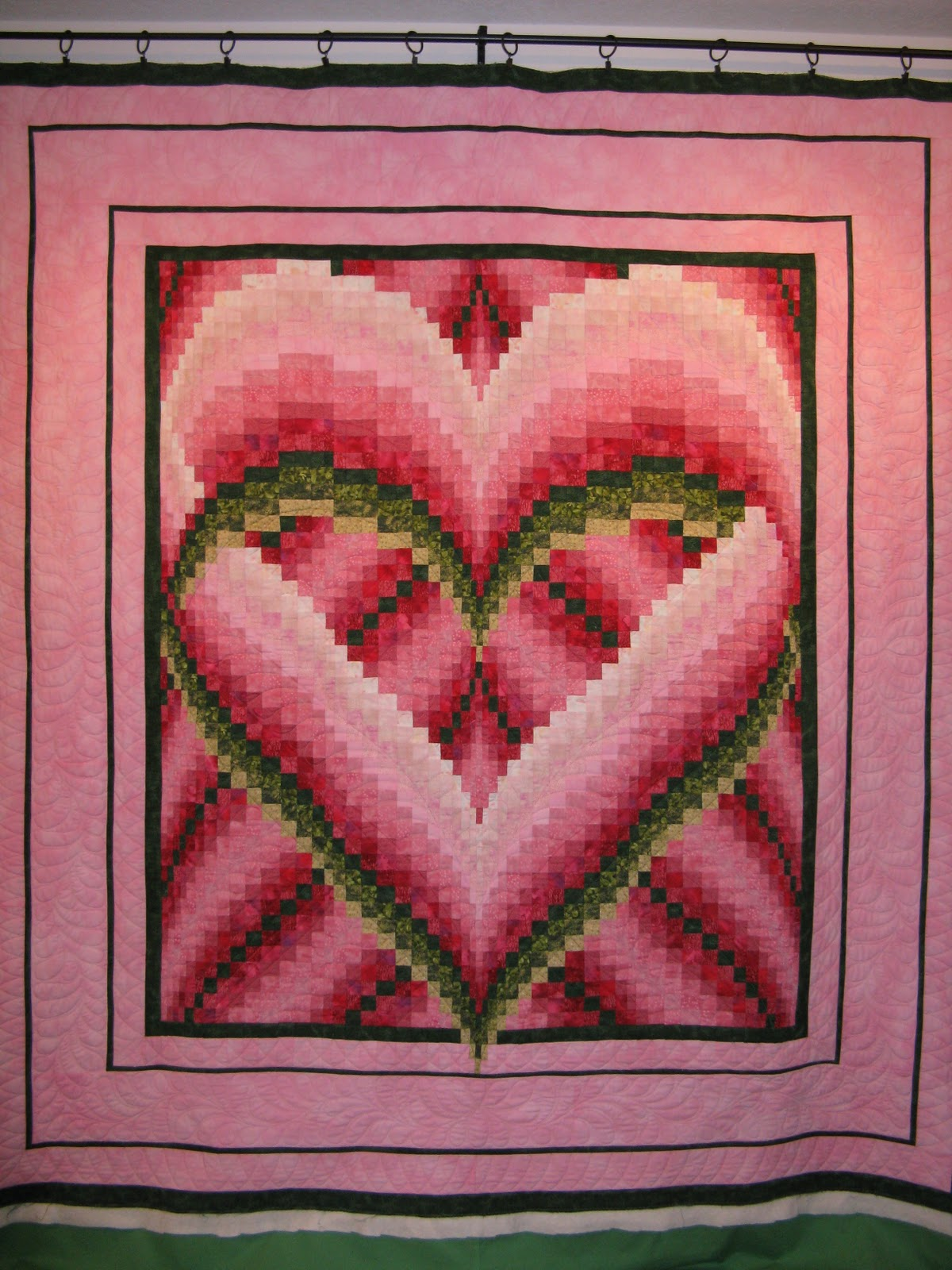 Bargello Quilt - Uses, Instructions and Patterns | Stitch Piece n Purl : heart bargello quilt pattern - Adamdwight.com