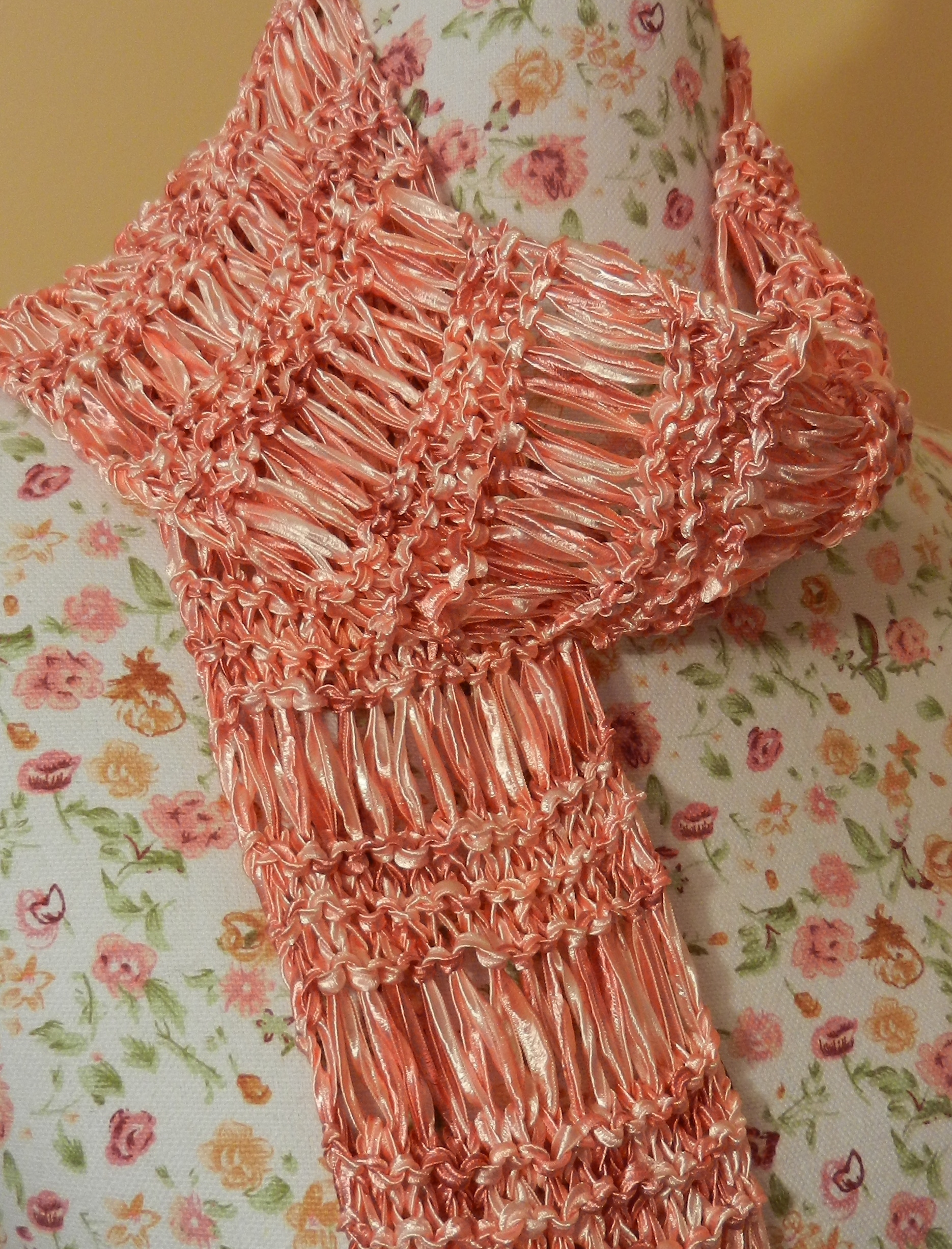 Knitting Pattern Ribbon Yarn Scarf : Ribbon Yarn Stitch Piece n Purl
