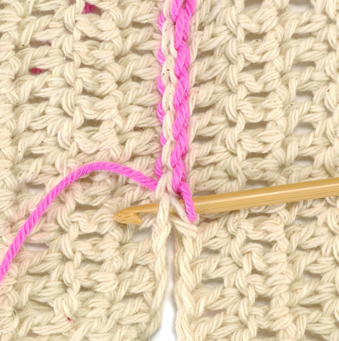 Crochet Join Stitch : Slip Stitch Crochet Stitch Piece n Purl