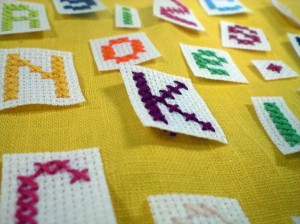Picture of Chain Stitch Alphabet Pattern