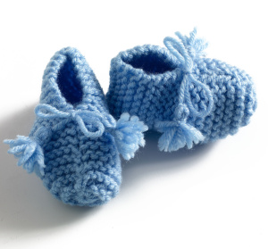 Garter Stitch Baby Shoes Images