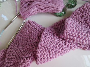 Potato Chip Scarf Knitting Pattern Image
