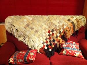 Entrelac Shawl Pattern Image