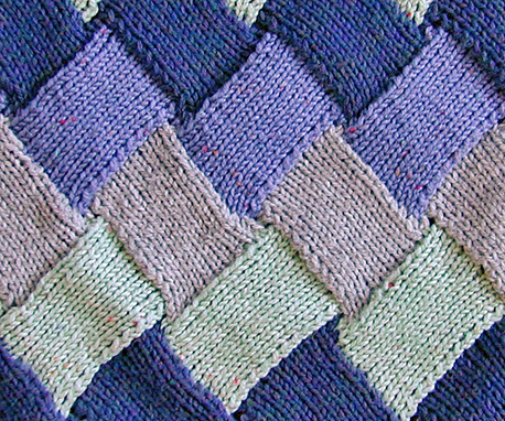 Knitting Stitch Patterns Entrelac : Entrelac Knitting Tutorial and Patterns Stitch Piece n Purl