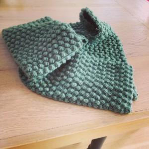 Crochet Popcorn Stitch Scarf Photos