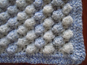 Knitting Pattern For Popcorn Baby Blanket : Popcorn Stitch Crochet Tutorial and Patterns Stitch Piece n Purl