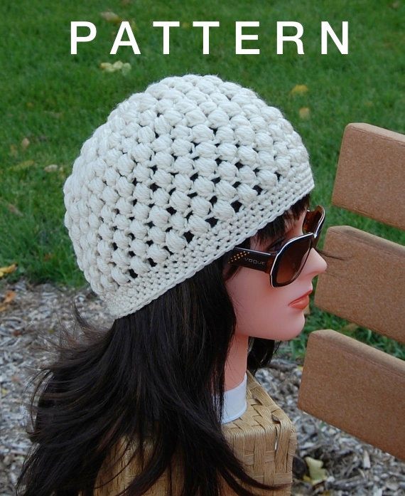 Knit Popcorn Stitch Hat Pattern : Popcorn Stitch Crochet Tutorial and Patterns Stitch Piece n Purl