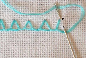 Closed Blanket Stitch