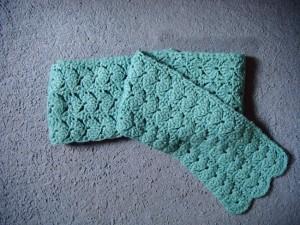 Shell Stitch Crochet Scarf