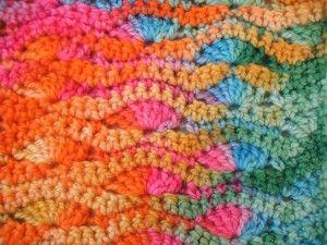 Wavy Shell Stitch Crochet Pattern - Regular Style