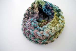 Hairpin Lace Braided Infinity Scarf