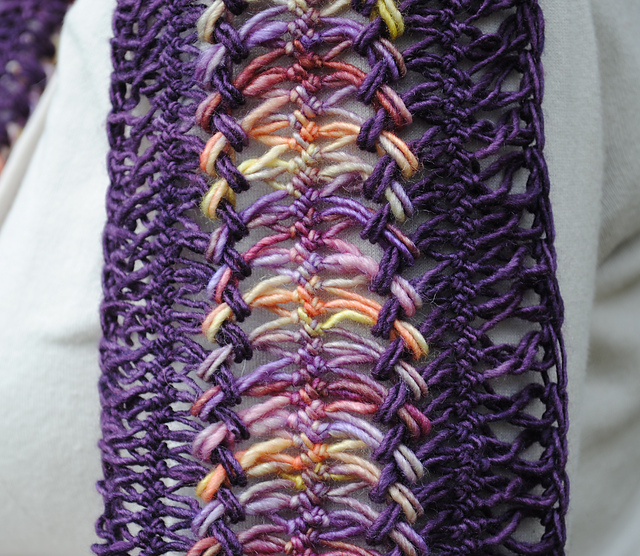 Hairpin Lace Stitch Piece N Purl