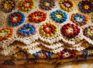 Hexagon Puff Stitch Afghan Pattern