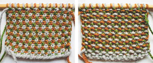 Double Knitting In The Round Patterns : Linen stitch knitting tutorial and patterns piece