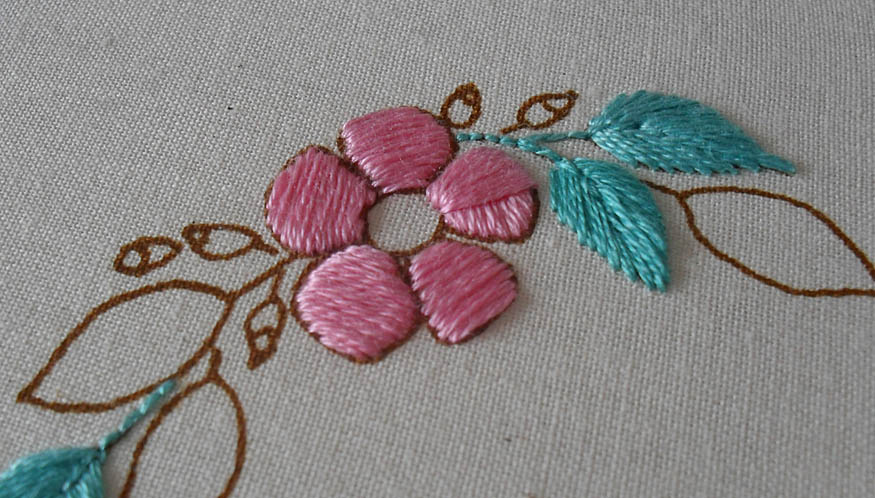 Satin Stitch Embroidery Tutorial And Patterns Stitch Piece N Purl
