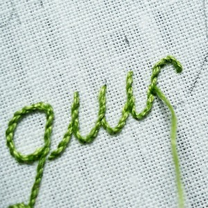 Stem Stitch Letters