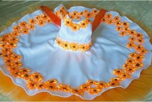 Ribbon Embroidery Dress