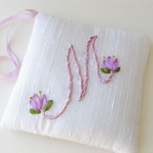 Ribbon Embroidery Monogram