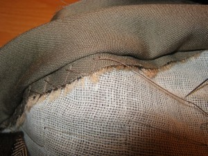 Herringbone Basting Stitch