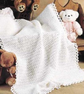 Picot Stitch Baby Blanket Pictures