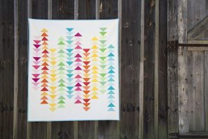 Modern Flying Geese Quilt Photos