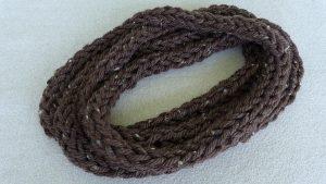 Finger Knit Circle Scarf