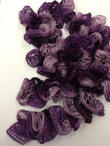 Finger Knit Ruffle Scarf