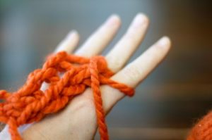 Finger Knit Scarf Picture 8