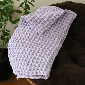 Crochet Waffle Stitch Baby Blanket