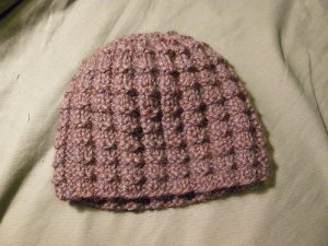 Crochet Waffle Stitch in The Round