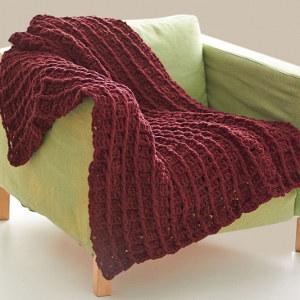 Waffle Stitch Crochet Afghan
