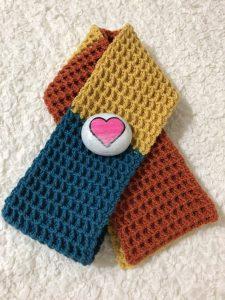 Waffle Stitch Crochet Scarf