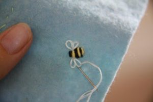 Bullion Stitch Bees