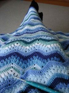 Puff Stitch Ripple Afghan Pattern