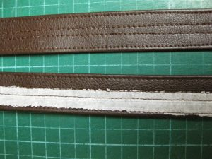 Top Stitching Faux Leather