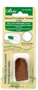 CLOVER Natural Fit Leather Thimble